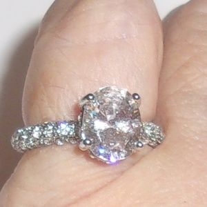 Jewelry - **SALE**$5 OFF**3 CARAT CZ RING ON MINI PAVE BAND